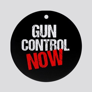 Gun Control Now Round Ornament