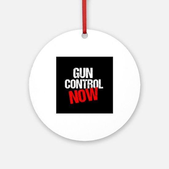 Gun Control Now Round Ornament