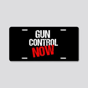 Gun Control Now Aluminum License Plate