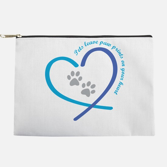 pets leave paw prints on your heart Makeup Bag