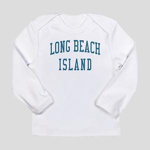 Long Beach Island New Jersey NJ Blue Long Sleeve T