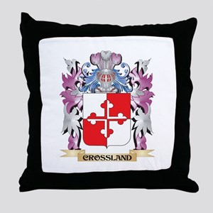 Crossland Coat of Arms (Family Crest) Throw Pillow