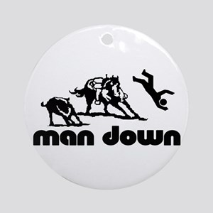 man down cutter Ornament (Round)