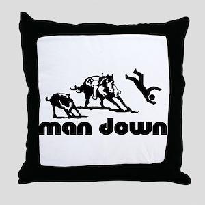 man down cutter Throw Pillow