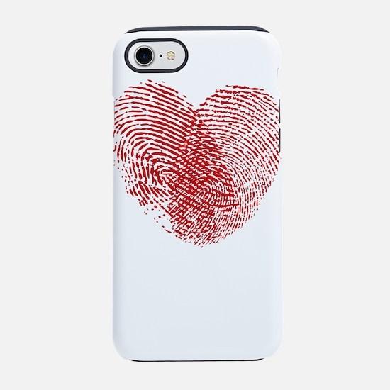Fingerprint Heart iPhone 8/7 Tough Case
