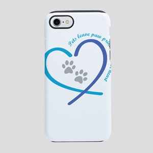 pets leave paw prints on you iPhone 8/7 Tough Case