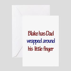 Blake - Dad Wrapped Around F Greeting Card