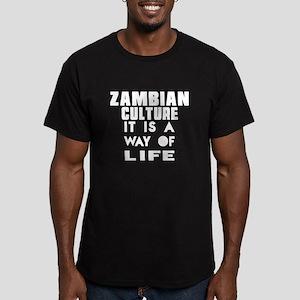 Zambian Culture It Is Men's Fitted T-Shirt (dark)