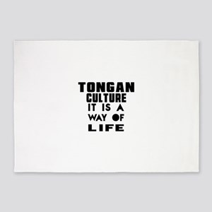 Tongan Culture It Is A Way Of Life 5'x7'Area Rug
