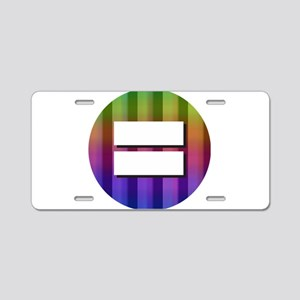Equality Rainbow Aluminum License Plate