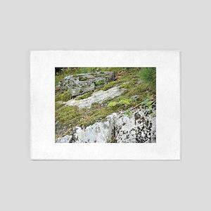 Mossy Ledge Rock 5'x7'Area Rug