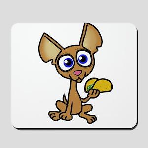Chihuahua with taco Mousepad
