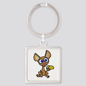 Chihuahua with taco Keychains
