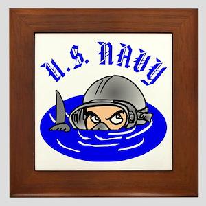 U.S. Navy Scuba Framed Tile