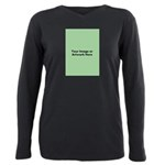 Your Image or Artwork Plus Size Long Sleeve Tee
