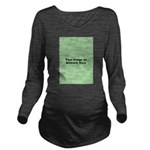 Your Image or Artwork Long Sleeve Maternity T-Shir