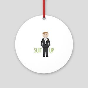 Suit Up Round Ornament