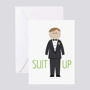 Suit Up Greeting Cards