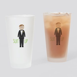 Suit Up Drinking Glass
