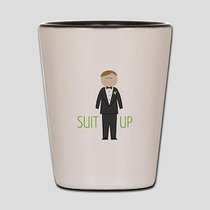 Suit Up Shot Glass