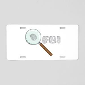 FBI Aluminum License Plate