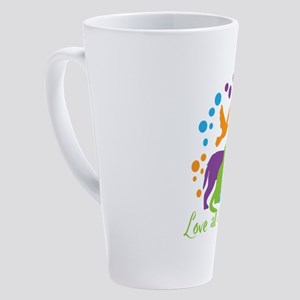 love all animals 17 oz Latte Mug