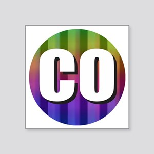 Co Colorado Rainbow Sticker
