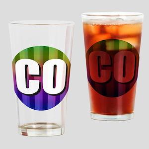 Co Colorado Rainbow Drinking Glass
