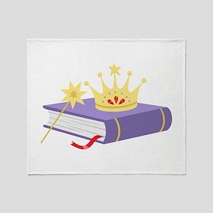 Fairy Tale Book Throw Blanket