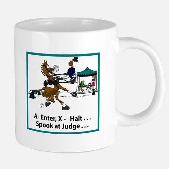 Dressage Horse Spook Mugs