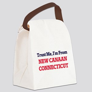 Trust Me, I'm from New Canaan Con Canvas Lunch Bag