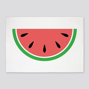 Watermelon Slice 5'x7'Area Rug