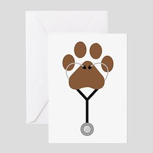Vet Stethescope Greeting Cards