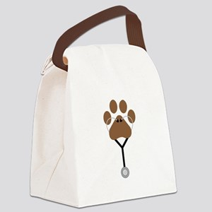 Vet Stethescope Canvas Lunch Bag