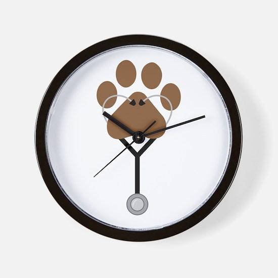 Vet Stethescope Wall Clock
