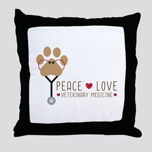 Veterinary Medicine Throw Pillow