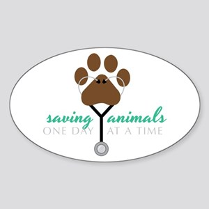 Saving Animals Sticker