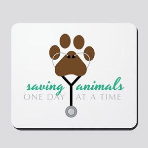 Saving Animals Mousepad