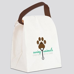 Saving Animals Canvas Lunch Bag