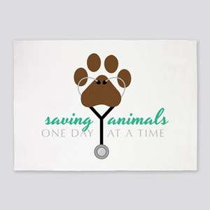 Saving Animals 5'x7'Area Rug