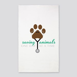 Saving Animals Area Rug
