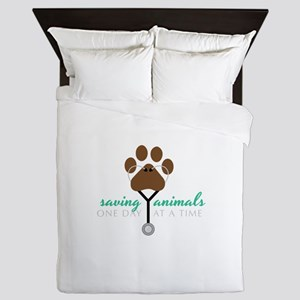Saving Animals Queen Duvet