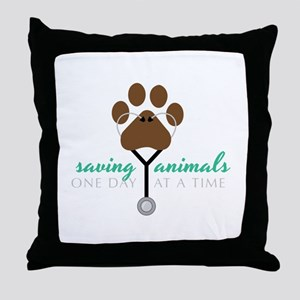 Saving Animals Throw Pillow
