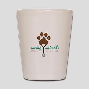 Saving Animals Shot Glass