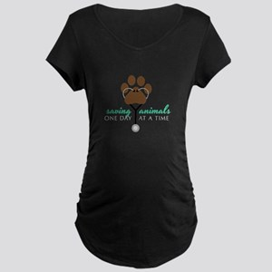 Saving Animals Maternity T-Shirt