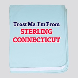 Trust Me, I'm from Sterling Connectic baby blanket