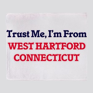 Trust Me, I'm from West Hartford Con Throw Blanket