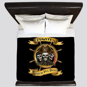 Pirates Watch Your Booty! King Duvet