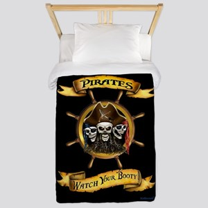 Pirates Watch Your Booty! Twin Duvet