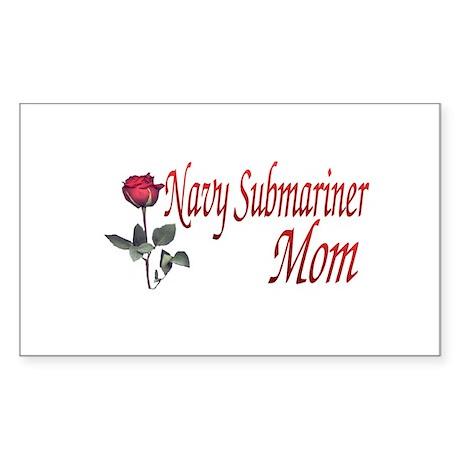 navy submariner mom rose Rectangle Sticker